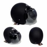 Review Jpn Helm Bogo Retro Klasik Kaca Original Black Doff Solid Hitam