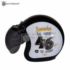 Harga Jpn Helm Bogo Retro Klasik Remember This Number 46 Is The Winner Kaca Original Gold Black Glossy Hitam Termurah