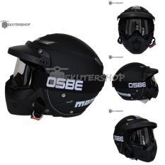 Obral Jpn Helm Momo Vintage With Osbe Goggle Mask Plus Pet Jeruk Hitam Retro Klasik Jap Style Motocross Shark Raw Visor Clear Doff Hitam Murah
