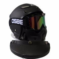 Beli Jpn Helm Momo Vintage With Osbe Goggle Mask Retro Klasik Jap Style Motocross Shark Raw Visor Rainbow Doff Plus Pet Hitam Dengan Kartu Kredit