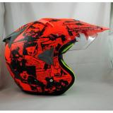 Kualitas Jpx Supermoto Legendary Fluorescent Red Doff Black Jpx