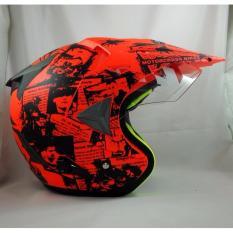 Diskon Produk Jpx Supermoto Legendary Fluorescent Red Doff Black