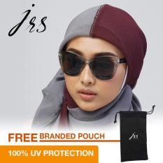 Jual Jrs Kacamata Wanita Cokelat Oversize Proteksi Uv 400 Lensa Abu Abu J01As1144 Online Hong Kong Sar Tiongkok