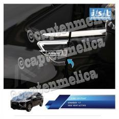 JSL Aksesoris Mobil Mitsubishi Xpander Side Vent Activo Garnish Lis Ring Side Air Flow Sayap Samping Ruang Udara Garnis List Chrome Krom Silver Asesoris Mobil Acesoris Mobil Xpander Expander
