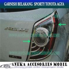 Jual Garnish Lampu Belakang Sporty Mobil Toyota Agya Stock A