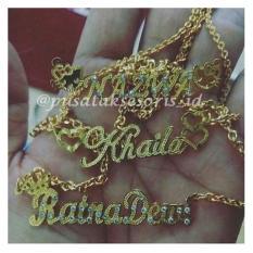Jual Kalung Nama Gold Lapis emas 24 karat  bisa cetak sesuai nama