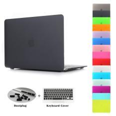 JUSHENG 3in1 Air 13 Matting Rubber Coated Plastic Hard Case dengan Keyboard Cover & Debu Plug untuk MACBOOK AIR 13 Inch (Model: A1369 dan A1466)-Intl