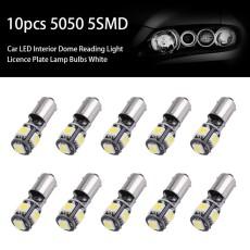 Justgogo 10 Pcs 5SMD BA9S Mobil LED Interior Kubah Membaca Lampu Lampu Lampu Listrik Lampu Putih