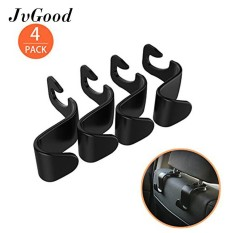 Review Jvgood 4 Pack Car Vehicle Back Seat Headrest Organizer Hanger Storage Hook Untuk Auto Tas Belanja Tas Tangan Di Tiongkok