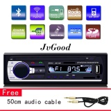 Harga Jvgood Stereo Dashboard Mobil Audio Single Din 12V Fm Mp3 Radio Dengan Remote Control 60W X4 Branded