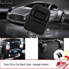 Harga Hemat Jvgood Car Backseat Organizer Pu Leather Auto Back Car Seat Organizer Holder Pocket Storage Kick Mats With 2 Hooks Black
