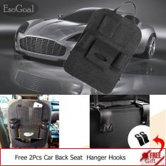 Review Jvgood Car Backseat Organizer Woolen Felt Seat Pocket Protector Storage With 2 Hooks Black Di Tiongkok