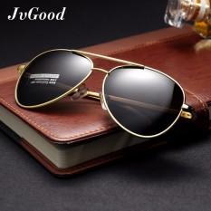Beli Jvgood Mens Womens Sunglasses Polarized With Aksesoris Uv 400 Perlindungan Bingkai Logam Besar Untuk Outdoor Murah