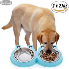 Beli Jvgood Mangkuk Tempat Makan Anjing Tempat Makan Minum Bowl Anjing Set Of 2 27 Oz For Each Bowl Cicilan