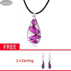 Jual Jvgood Women G*rl Glass Pendants Necklace With Lady Beautiful Earrings Baseball Pendant Dangle Earrings Antik