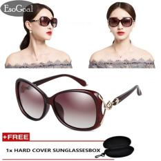 Jual Jvgood Women S Shades Oversized Polarized Fox Sunglasses 100 Uv Protection With Free Storage Box Murah Di Tiongkok
