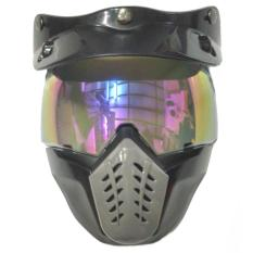 Kaca Helm Retro Alien Mask Modular Rainbow - Masker Topeng Pelangi