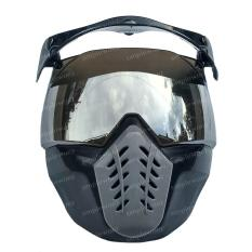 Jual Kaca Helm Retro Bogo Pet Kancing Alien Mask Modular Masker Topeng Silver Lens Oem Original