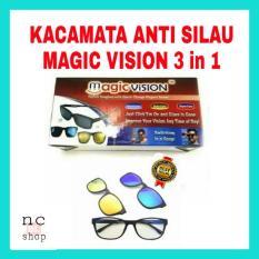 KACA MATA 3 FRAME LENSA/ ASK VISION KACAMATA ANTI SILAU DAN BERGAYA  3 IN 1 MAGNETIC