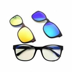 Toko Kaca Mata 3 Frame Lensa Ask Vision Kacamata Anti Silau Dan Bergaya 3 In 1 Magnetic Ask Di Indonesia