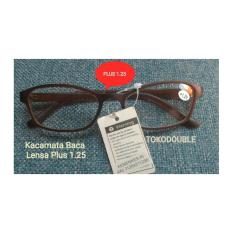Kaca mata Baca Plus 1.25 Kacamata Lensa Plus 1.25
