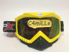 KACA MATA GOOGLE JPX YELLOW DOFF RAINBOW UNTUK HELM CROSS TRAIL GM KYT
