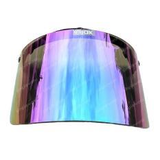Kaca Visor Helm Retro Bogo Flat Datar Pelangi Rainbow