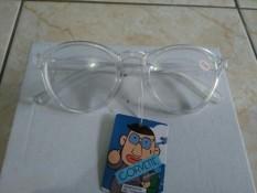 Kacamata baca kacamata minus 0.5 kaca bening bulat oval trendy gaya fashion korea
