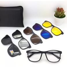 Kacamata Clip On 2201 Magnet 5 Lensa Bisa Lepas Pasang - C9zurx