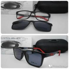 Kacamata Clip On Magnet Hitam Merah - 2Rmrje