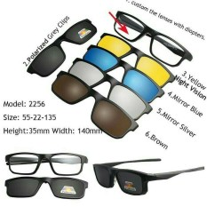 Kacamata Clip On Multifungsi Free 5 Lensa High Quality