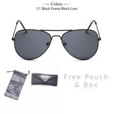 Promo Kacamata Fashion Unisex Aviator Eyewear Harley Sunglasses Black Series Akhir Tahun