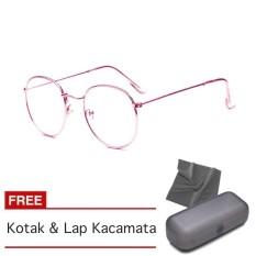 Kacamata Fasion Pria dan Wanita Korea - Free Kotak   Lap Kacamata - OVAL a44216868e