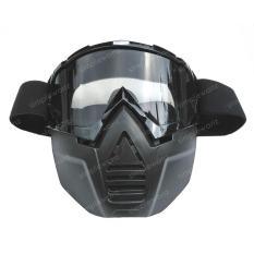 Kacamata Goggle Face Mask Alien Mask Modular Riben - Google Masker Shark Topeng Smoke Model Snail M18