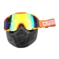 Cara Beli Kacamata Goggle Motocross Osbe Trail Google Mask Orange Stabilo Pelangi Rainbow Masker Topeng