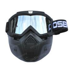 Kacamata Goggle Motocross Trail Shark OSBE Alien Mask Modular - Google Masker Topeng Silver Lens