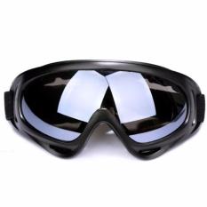 Kacamata Google Ski Polarized Anti Silau dan Debu - Black