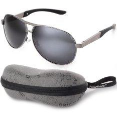 Jual Laki Laki Terpolarisasi Kacamata Hitam Kacamata Penerbang Mengemudi Luar Ruangan Hitam Lensa Abu Abu Lis Os393 Sz Branded Murah