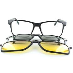 Kacamata Kekinian Anti Silau High Quality ASK Vision 3 In 1 Magnet Lenses - 3 Frame Lensa