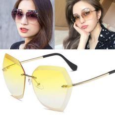 Kacamata Keren Kekinian Dan Terkeren Nyaman Anti Silau Dan Terhits Frameless Edge Sunglasses