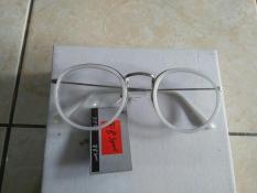 Kacamata Korea Kacamata Fashion Bulat Oval Putih Trendy Gaya Keren