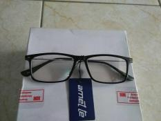 Kacamata Korea Kacamata Persegi Hitam Fashion Gagang Besi Trendy Gaya