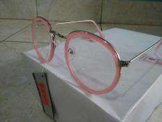 Kacamata Korea Murah Fashion Oval Pink Trendy Terbaru Hit 5731e3fe11