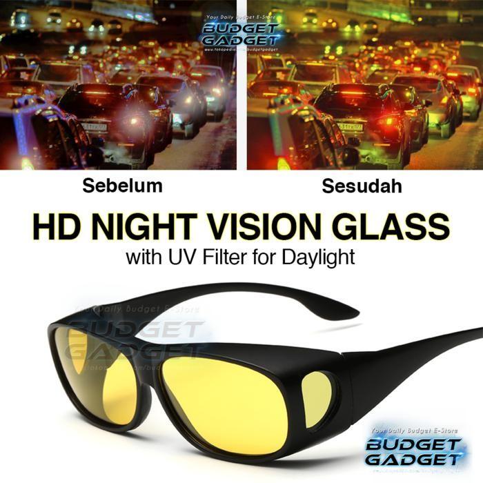 Kacamata Malam Night Vision UV Protection Night Driving / Daylight