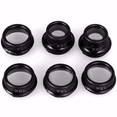 Kacamata Pembesar 25x Magnifier dengan 2 LED - Black