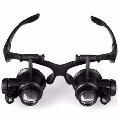 Spesifikasi Kacamata Pembesar 25X Magnifier Dengan 2 Led Glasses S0814 Black Terbaru