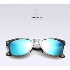 Spesifikasi Kacamata Pria Hitam Alumunium Polarized 2140 Uv 400 Gratis Pouch Terbaik
