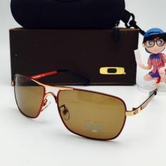 Kacamata Pria Polarized Oakley_Plantiff Square Fullset Maroon
