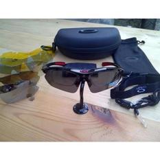 Beli Kacamata Pria Sport Polarized Aviator Hitam 6 Lensa Dengan Kartu Kredit
