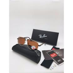 Kacamata Rayban 4630 Bingkai Black Gold Lensa Polaroid Coklat